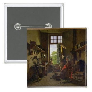 Interior of a Kitchen, 1815 Buttons