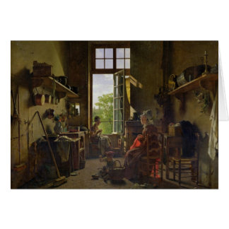 Interior of a Kitchen, 1815 Card