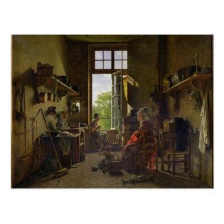 Interior of a Kitchen, 1815 Postcard