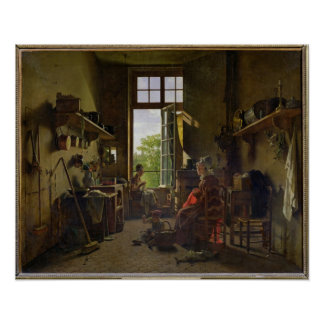 Interior of a Kitchen, 1815 Poster