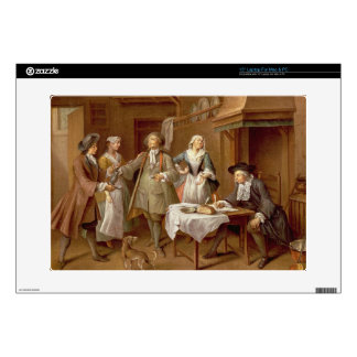 Interior of a Kitchen with Figures Tasting Wine Skin For Laptop