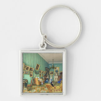 Interior of a living room, 1847 keychain