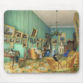 Interior of a living room, 1847 mousepads