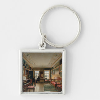 Interior of a Manor House, 1830s Keychain