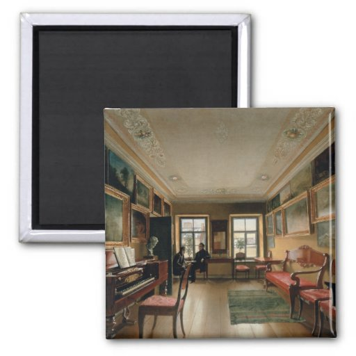 Interior of a Manor House, 1830s Magnets