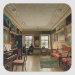 Interior of a Manor House, 1830s Square Stickers