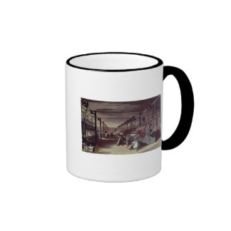 Interior of a mill ringer coffee mug