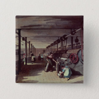Interior of a mill pinback button