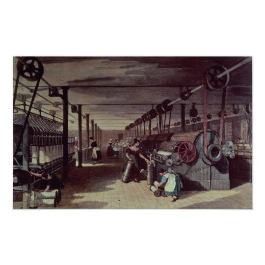 Interior of a mill poster