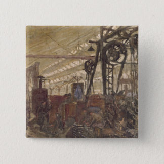 Interior of a Munitions Factory, 1916-17 Button