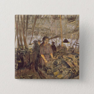 Interior of a Munitions Factory Pinback Button