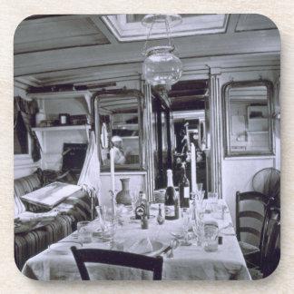 Interior of a Nile Boat (b&w photo) Beverage Coaster