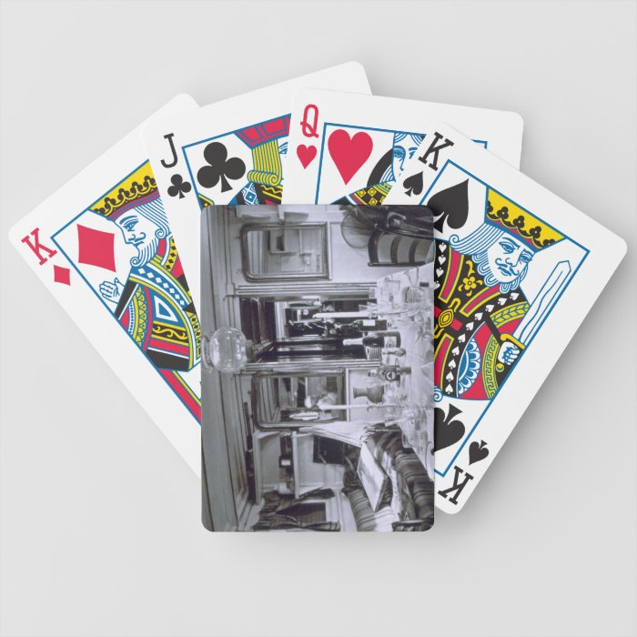 Interior of a Nile Boat (b&w photo) Bicycle Playing Cards