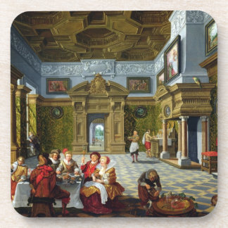 Interior of a Palatial Room, 1622 (oil on canvas) Beverage Coaster