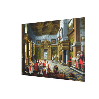 Interior of a Palatial Room, 1622 (oil on canvas) Canvas Print