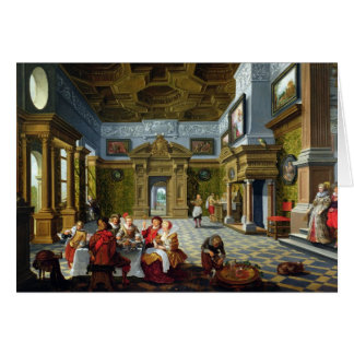 Interior of a Palatial Room, 1622 (oil on canvas) Card