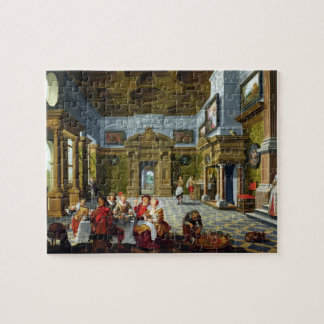 Interior of a Palatial Room, 1622 (oil on canvas) Jigsaw Puzzle