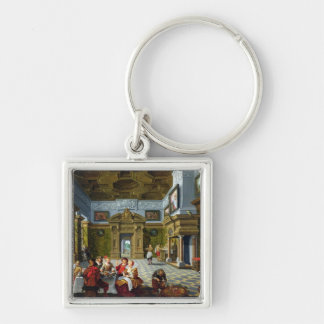 Interior of a Palatial Room, 1622 (oil on canvas) Keychain