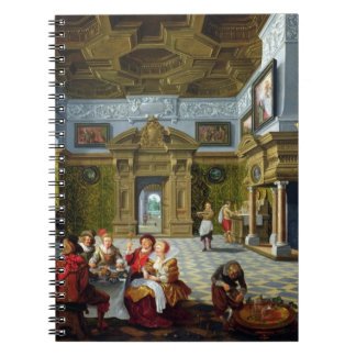 Interior of a Palatial Room, 1622 (oil on canvas) Notebook