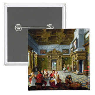 Interior of a Palatial Room, 1622 (oil on canvas) Pinback Button