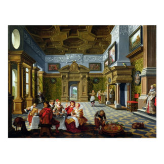 Interior of a Palatial Room, 1622 (oil on canvas) Postcard