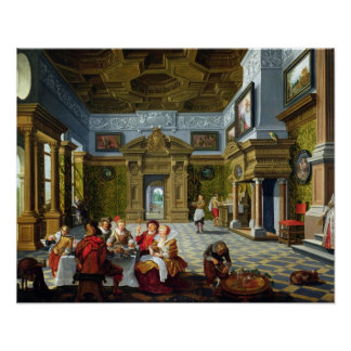 Interior of a Palatial Room, 1622 (oil on canvas) Poster