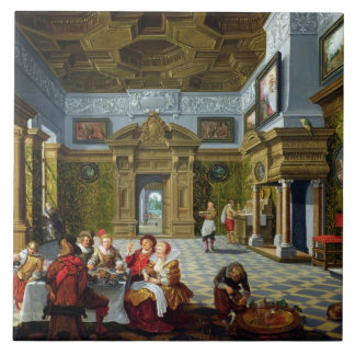 Interior of a Palatial Room, 1622 (oil on canvas) Tile