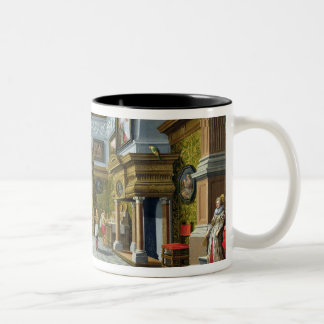 Interior of a Palatial Room, 1622 (oil on canvas) Two-Tone Coffee Mug