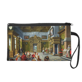 Interior of a Palatial Room, 1622 (oil on canvas) Wristlet Purse