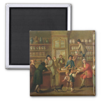 Interior of a Pharmacy 2 Inch Square Magnet