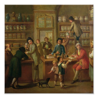 Interior of a Pharmacy Poster