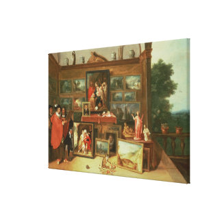 Interior of a Picture Gallery Canvas Print