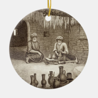 Interior of a Potter's Workshop, from Volume II Ar Ceramic Ornament