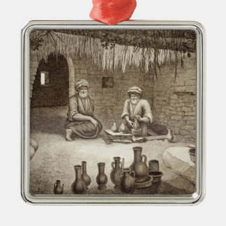 Interior of a Potter's Workshop, from Volume II Ar Metal Ornament