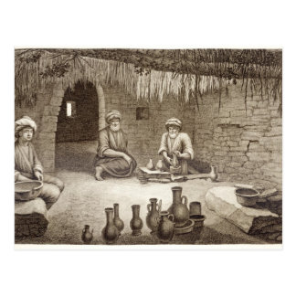 Interior of a Potter's Workshop, from Volume II Ar Postcard