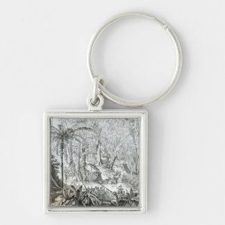 Interior of a Primeval Forest in the Amazons Keychain