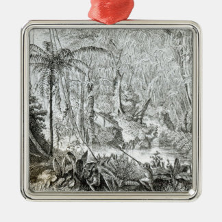Interior of a Primeval Forest in the Amazons Christmas Ornament