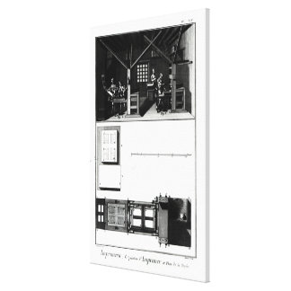 Interior of a Printing Works and Plan Canvas Print