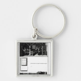 Interior of a Printing Works and Plan Key Chain