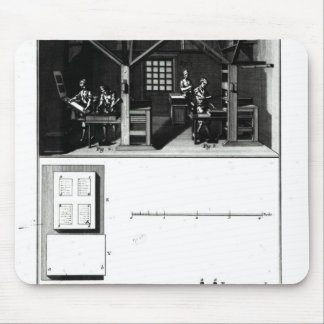 Interior of a Printing Works and Plan Mouse Pad