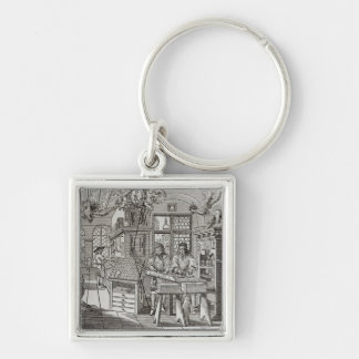 Interior of a printing works in Nuremberg Keychain