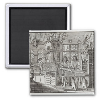 Interior of a printing works in Nuremberg Fridge Magnet