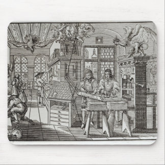 Interior of a printing works in Nuremberg Mouse Pad