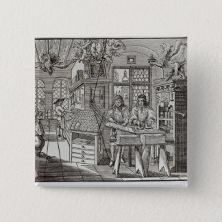 Interior of a printing works in Nuremberg Pinback Button
