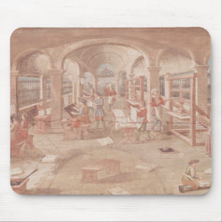 Interior of a Printing Works in the 16th Century Mousepads