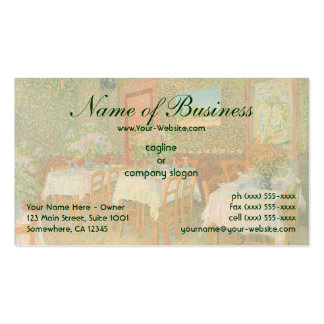 Interior of a Restaurant by Vincent van Gogh Business Card Template
