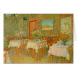 Interior of a Restaurant by Vincent van Gogh Greeting Card