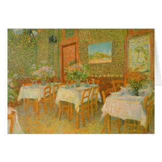 Interior of a Restaurant by Vincent van Gogh Cards