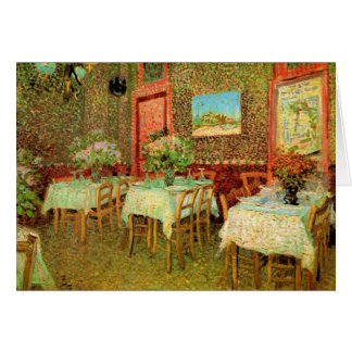 Interior of a restaurant by Vincent van Gogh Card
