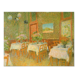 "Interior of a Restaurant by Vincent van Gogh 4.25"" X 5.5"" Invitation Card"